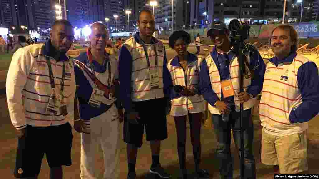 La délégation du Cap-Vert dans le village olympique, à Rio de Janeiro, Brésil