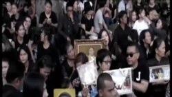 泰國民眾悼念國王逝世