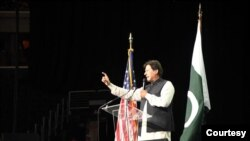 پاکستان کے وزیر اعظم عمران خان بھی امریکہ میں پاکستانی کمیونٹی سے خطاب کرچکے ہیں۔ (فائل فوٹو)