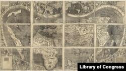 نقشه والدسیمولر از قاره امریکا