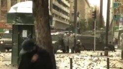 智利警方驅散學生示威