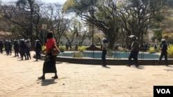 Police in Harare ...