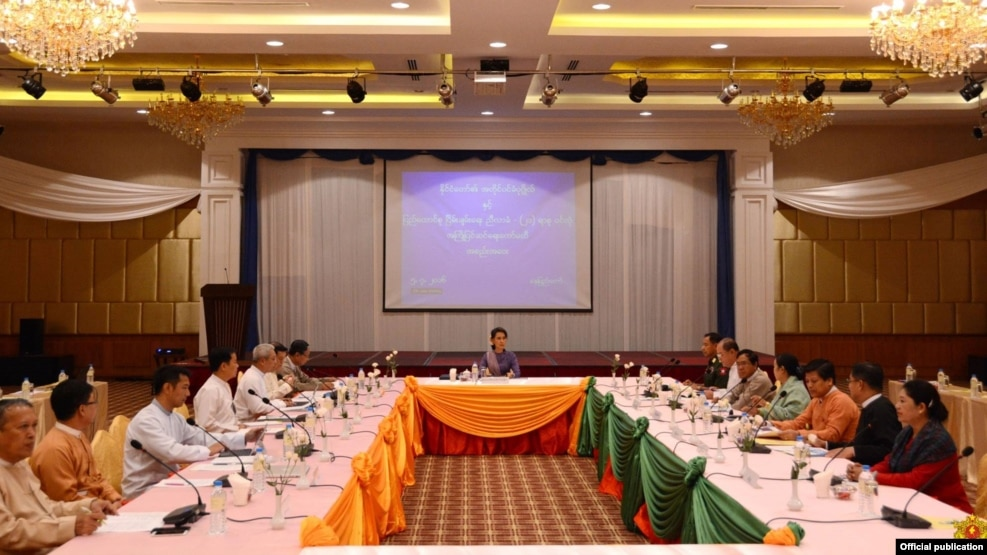21st century Pinlong conference pre talks with Daw Aung San Suu Kyi and Ethnic Armed groups leaders