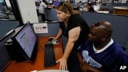 Линда Робинсон вместе с мужем в поисках работы