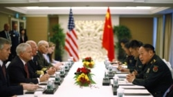 وزيران دفاع آمريکا و چين می گويند روابط نظامی دو کشور در جهت مثبت پيش می رود