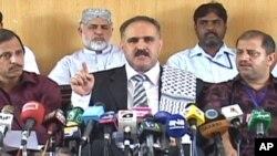 اسلام آباد میں فلسطینی سفیر نیوزکانفرنس سے خطاب کررہے ہیں
