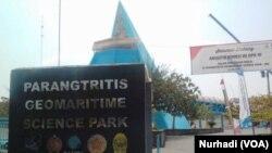 Parangtritis Geomaritime Science Park, menyediakan informasi untuk masyarakat mengenai gumuk pasir. (Foto: VOA/ Nurhadi)