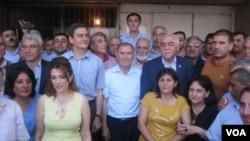 Cəmil Həsənli Milli Şura üzvləri ilə birgə