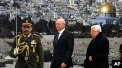 فلسطین کا مؤقف رہا ہے کہ اُن کے لیے کوئی بھی ایسا حل ناقابلِ قبول ہےجس میں مشرقی یروشلم ان کے ملک کا حصہ نہیں ہو گا۔ (فائل فوٹو)