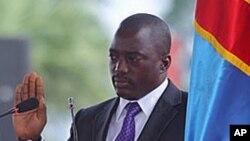Joseph Kabila lors de son investiture le 20 décembre 2011 à Kinshasa