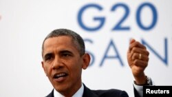 President Barack Obama speaks at a news conference at the G20 Summit in St. Petersburg, Sept. 6, 2013.