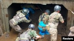 Record Rainfall Floods Japan