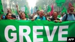Ֆրանսիայի գործադուլը խաթարել է երկաթուղու և նավթարդյունաբերութ-<br>յան աշխատանքը