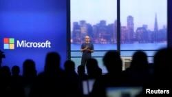 """在中国反垄断行动中受到处罚的微软公司""""构建""""发布会"""