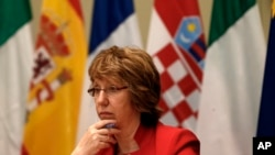 FILE - European Union foreign policy chief Catherine Ashton.