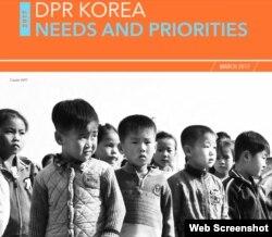 世界粮食计划署朝鲜粮食问题报告(网页截图)。
