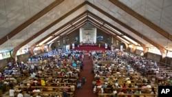 Misa u Johanesburgu, u čast preminulog bivšeg predsednika Nelsona Mandele, 8. decembar, 2013.