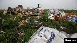 Les débris du Boeing 777 de la Malaysian Airlines dans la région de Donetsk, en Ukraine (Photo Reuters)