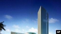 Novo edifício sede da União Africana, em Adis Abeba