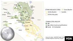 Northern Iraq, areas of control