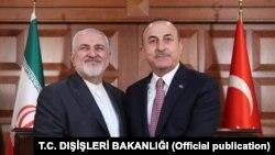İran Dışişleri Bakanı Cevad Zarif ve Dışişleri Bakanı Mevlüt Çavuşoğlu
