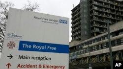 Rumahsakit Royal Free di London di mana Pauline Cafferkey dirawat (foto: dok).