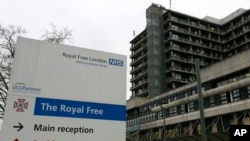 FILE - Pauline Cafferkey was admitted to the Royal Free Hospital in north London December 30.