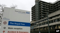 The Royal Free Hospital in London treating a British nurse who contracted the Ebola virus in West Africa says on Oct. 14, 2015, that she is critically ill following a resurgence of the virus.