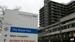Bệnh Viện Hoàng Gia Tự Do đã điều trị cho bà Cafferkey khi bị nhiễm vi rút Ebola hồi cuối tháng 12 và đầu tháng 1 vừa qua.