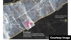 Rukban border crossing and encampment of Syrian asylum seekers. (Credit: Human Rights Watch)