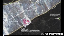 Rukban border crossing and encampment of Syrian asylum seekers. (Credit: Human Rights Watch)