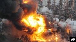 Refinaria de petróleo em Chiba, Japão