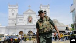 Askari u dhashay Sri Lanka oo xiray meel ka mid ah goobi la weeraray