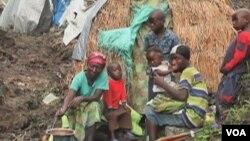 Une famille de déplacés dans l'est de la RDC
