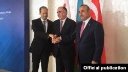 Elmar Məmmədyarov, Mixeil Canelidze və Mövlud Çavuşoğlu