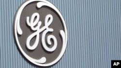 Logo General Electric tại một nhà máy ở Belfort, miền đông nước Pháp.