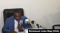 Peter Essoka, président du Conseil national de la communication, au Cameroun, le 11 mars 2018. (VOA/Emmanuel Jules Ntap)