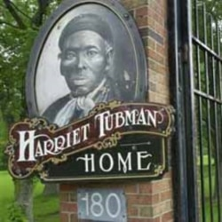 The entrance to the Harriet Tubman Home in Auburn, New York