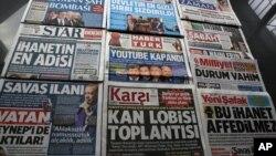 Media Turki mengecam pembatasan dan sensor pemerintah terhadap media sosial (foto: dok). Jaksa Turki menuduh 36 orang terkait komentar mereka soal krisis mata uang Turki di media sosial.