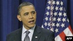 Predsednik Obama na konferenciji za štampu u Beloj kući, 15. februar, 2011.