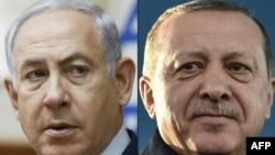 Benjamin Netanyahu(R) Recep Tayyip Erdogan(Ç)