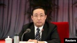 2011年1月17日北京市公安局局长傅正华在北京举行的一次会议上。他在2018年3月成为司法部长。