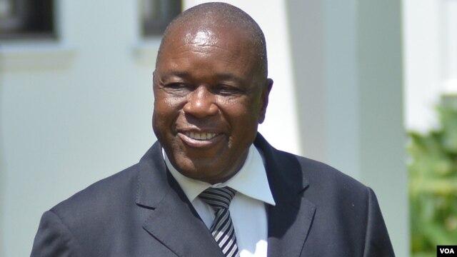 Christopher Mutsvangwa, Zimbabwe Deputy Minister of Foreign Affairs, Washington, DC, Aug. 4, 2014. (Sebastian Mhofu/VOA)