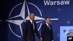 Prezident Barak Obama va Polsha rahbari Andrey Duda