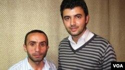 """""""Yeni Müsavat"""" qəzetinin əməkdaşı Fərahim İlqaroğlu və """"Turan"""" agentliyinin əməkdaşı Etimad Budaqov"""