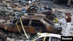 汽車炸彈爆炸過後的現場