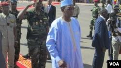 Idriss Déby Itno, président de la république du Tchad, le 7 novembre 2015. (VOA/André Kodmadjingar)