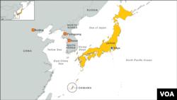 Peta Okinawa, Jepang.