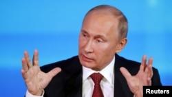 پوتین در کنفراس خبری در مسکو