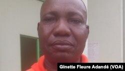 Urbain Philippe Kanlinsou, secrétaire Général du syndicat du port de Cotonou, le 14 juin 2017. (VOA/Ginette Fleure Adandé)